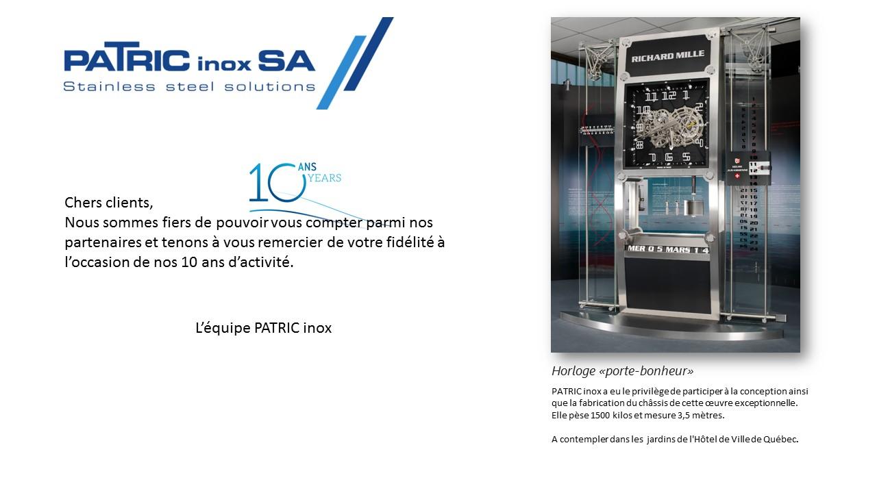 PATRIC inox 10 ANS